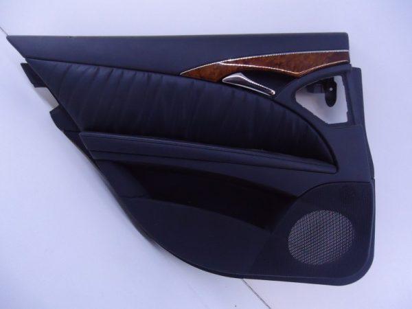 E-KLASSE W211 DEURPANEEL ZWART LEDER LINKSACHTER-0