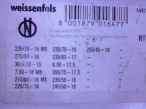 SNEEUWKETTINGSET 4X4 O.A. MERCEDES-ML W164 NIEUW-2250
