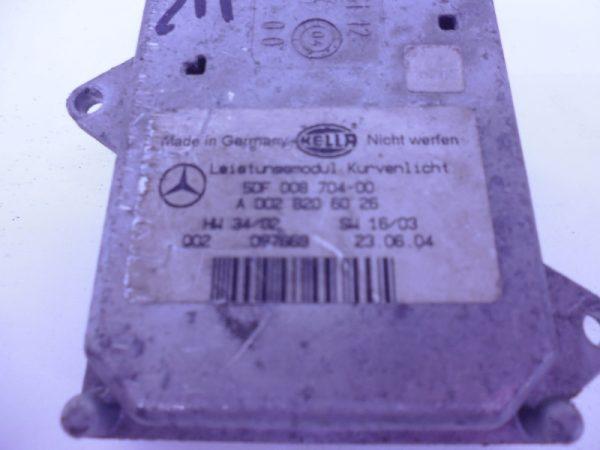 E-KLASSE W211 XENON MODULE LICHTHOOGTEREGELING GEBRUIKT A0028206026-2611