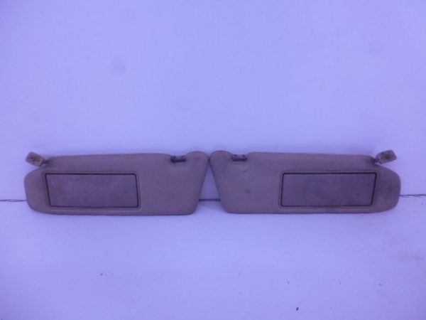 S-KLASSE W140 ZONNEKLEP SET LEDER CHAMPIGNON -0