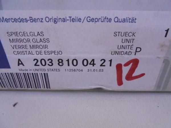 C-KLASSE W203 MIRROR GLAS AUTO DIM A2038100421-8284