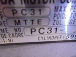 CBR 600 F FRAME ZONDER KENTEKEN GEEN SCHADE-8998