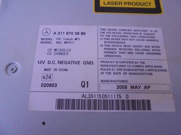 CLS-KLASSE W219 CD WISSELAAR IN DASHBOARD A2118703889-10204