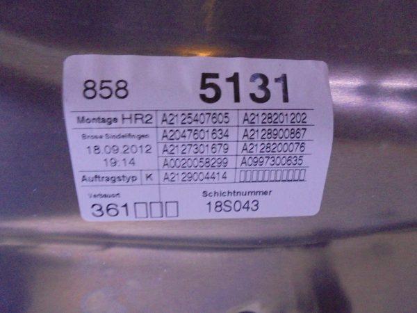 E-KLASSE W212RAAMMECHANISME CPL RA A2127301779-10463