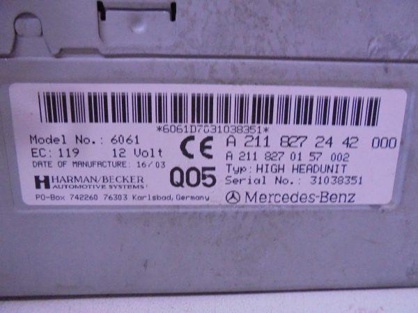 E-KLASSE W211 COMAND SYSTEEM A2118272442-10590