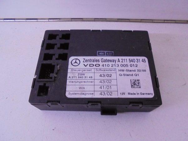 E-KLASSE W211 ZGW MODULE A2115403145 GATEWAY -0