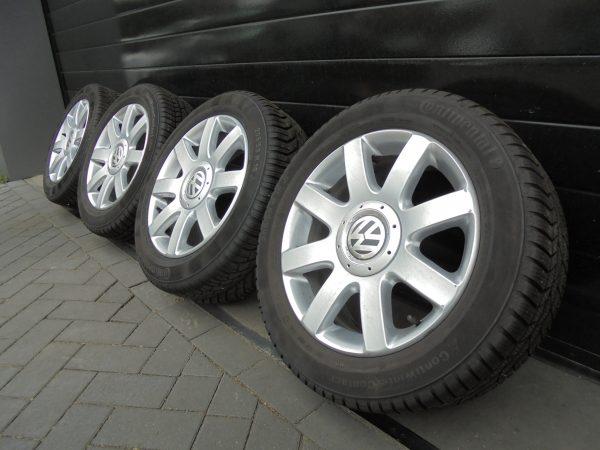 VW GOLF PLUS LICHTMETALEN VELGEN MET CONTI WINTERBANDEN 1K0601025R-0
